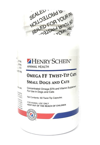 Omega FF Twist-Tip Caps For Small Dogs & Cats, 60 Capsules - Peazz Pet
