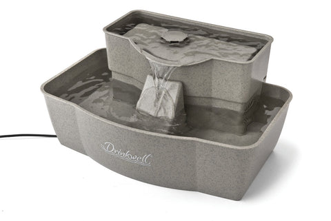 Drinkwell DMLR-PLAS Multi-Tier Pet Fountain + Free 3 Replacement Filters - Peazz.com