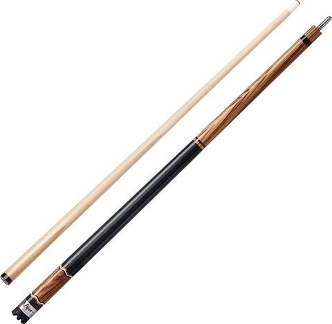 "Viper The Naturals 58"" Zebrawood Billiard Cue - Peazz.com"