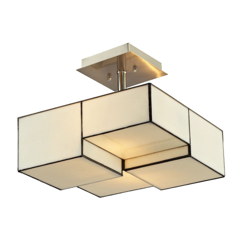 ELK Lighting 72061-2 Cubist Collection Brushed Nickel Finish - PeazzLighting