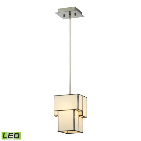 ELK Lighting 72062-1-LED Cubist Collection Brushed Nickel Finish - PeazzLighting