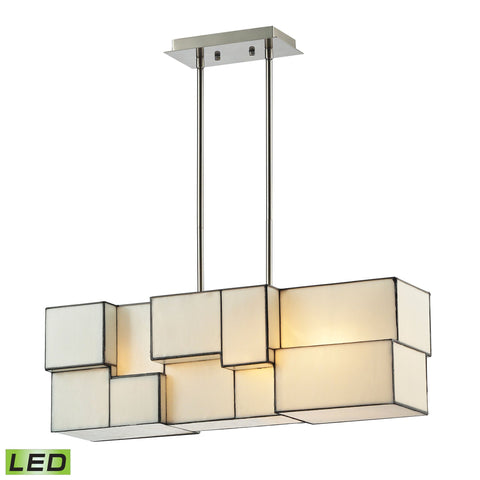 ELK Lighting 72063-4-LED Cubist Collection Brushed Nickel Finish - PeazzLighting