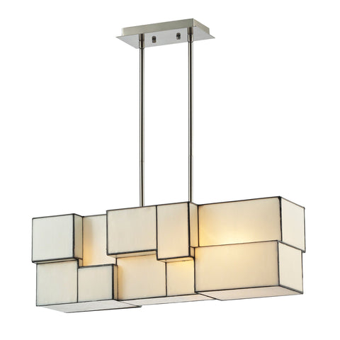 ELK Lighting 72063-4 Cubist Collection Brushed Nickel Finish - PeazzLighting