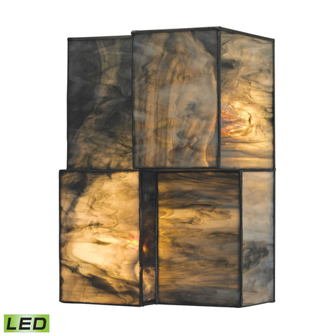 ELK Lighting 72070-2-LED Cubist Collection Brushed Nickel Finish - PeazzLighting