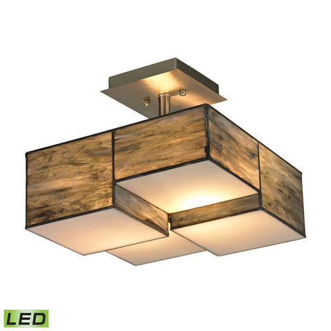 ELK Lighting 72071-2-LED Cubist Collection Brushed Nickel Finish - PeazzLighting
