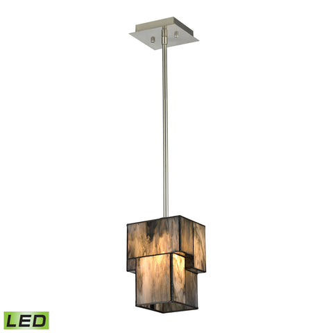 ELK Lighting 72072-1-LED Cubist Collection Brushed Nickel Finish - PeazzLighting
