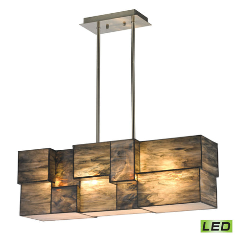 ELK Lighting 72073-4-LED Cubist Collection Brushed Nickel Finish - PeazzLighting
