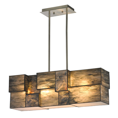 ELK Lighting 72073-4 Cubist Collection Brushed Nickel Finish - PeazzLighting