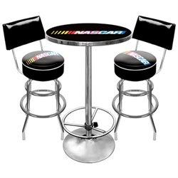 Nascar Nascar9900 Nascar Gameroom Combo 2 Stools W/ Back & Table