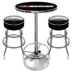 Nascar9800 Nascar Gameroom Combo - 2 Bar Stools And Table