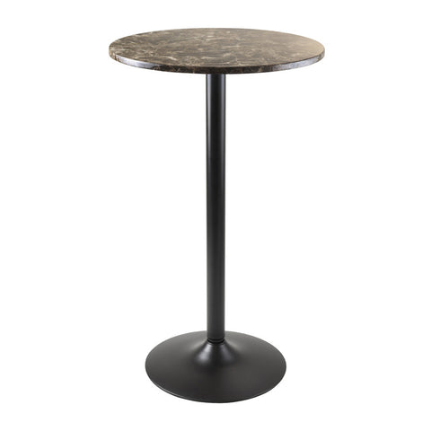 Winsome Wood 76124 Cora Pub Table Bar Height Round Faux