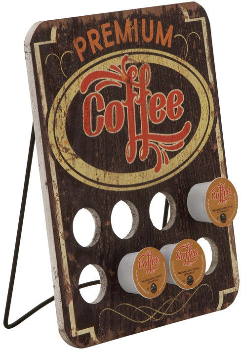"Bayden Hill Wood Metal Coffee Caddy 10""W, 13""H"