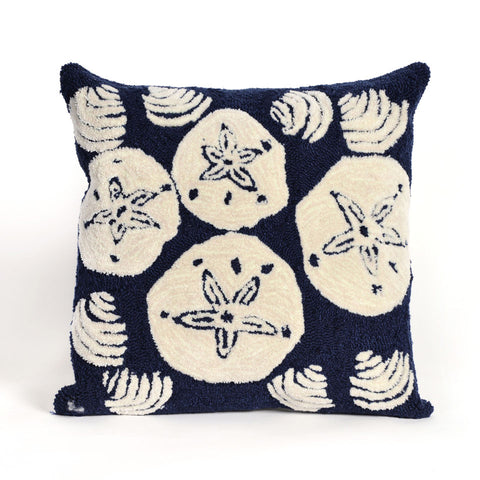 Trans-Ocean Imports 7FP8S140833 Frontporch Collection Navy Finish Pillow - Peazz.com