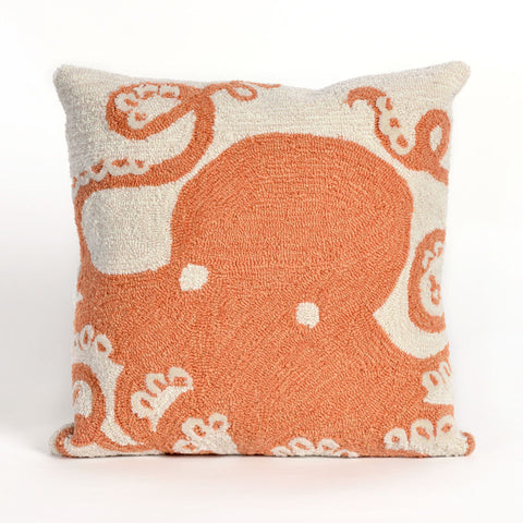 Trans-Ocean Imports 7FP8S143217 Frontporch Collection Orange Finish Pillow - Peazz.com