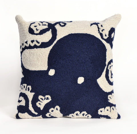 Trans-Ocean Imports 7FP8S143233 Frontporch Collection Navy Finish Pillow - Peazz.com