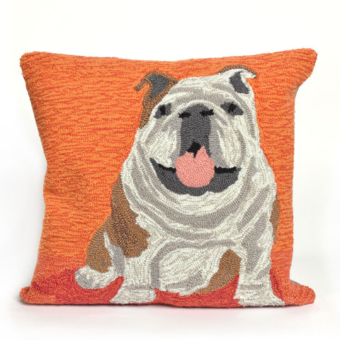 Trans-Ocean Imports 7FP8S156717 Frontporch Collection Orange Finish Pillow - Peazz.com