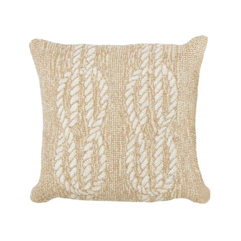 "Trans-Ocean Imports 7FP8S163612 Liora Manne Frontporch Ropes Indoor/Outdoor Pillow Natural 18"" Square"