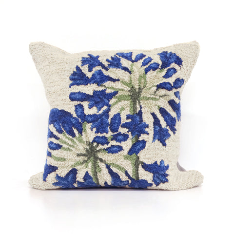"Trans-Ocean Imports 7FP8S227312 Liora Manne Frontporch Desert Lily Indoor/Outdoor Pillow Natural 18"" Square"