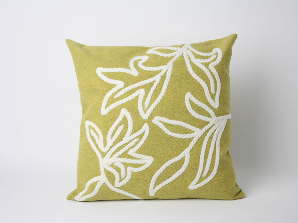 Green Finish Throw Pillow