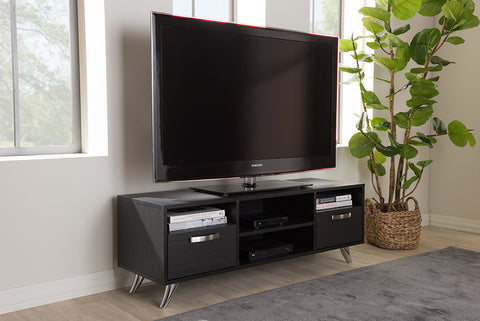 Baxton Studio ET 3112-02-Dark Brown-TV Warwick Modern and Contemporary Espresso Brown Finished Wood TV Stand