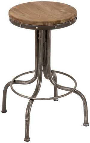"Bayden Hill Mtl Wd Bar Stool 28""H, 17""W - Peazz.com"