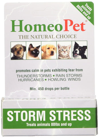 HomeoPet Pro Storm Stress Dog >80 lbs, 5 ml GRN - Peazz Pet