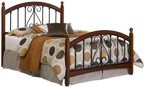 Hillsdale 1258BKR Burton Way Bed Set King with Rails