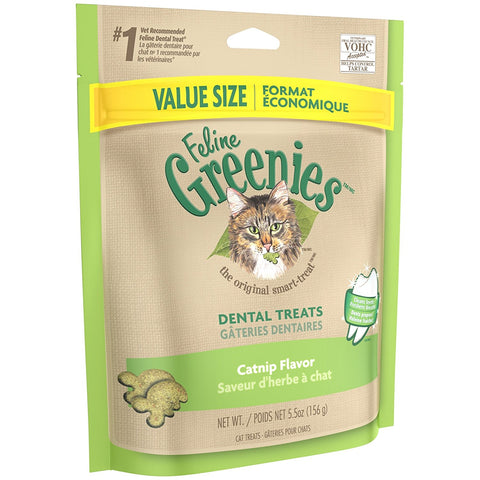 Feline Greenies Dental Treats - Catnip Flavor - 5.5 oz - Peazz Pet