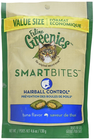 Feline Greenies SmartBites Hairball Control - Tuna, 2.1 oz - Peazz Pet