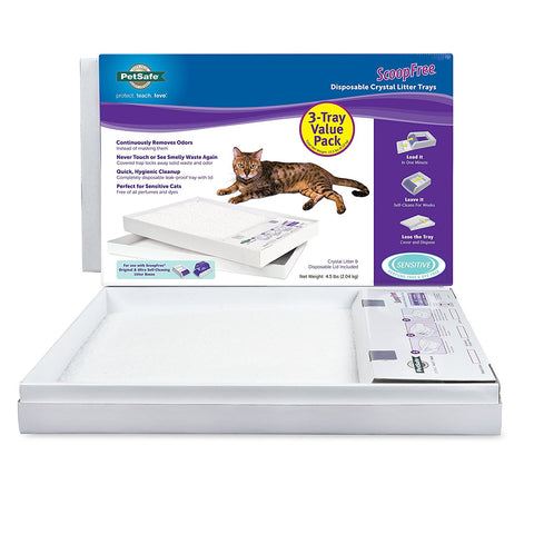 "PetSafe ScoopFree Litter Tray Refills With 'Free' Crystals 3 pack 22"" x 14.5"" x 2.5"" - Peazz Pet"