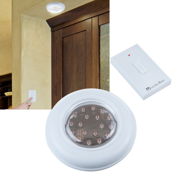 Cordless ceiling wall light with remote control light switch - Remote control exterior light switch ...
