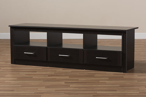 Baxton Studio MH8072-Wenge-TV Ryleigh Modern and Contemporary Wenge Brown Finished TV Stand