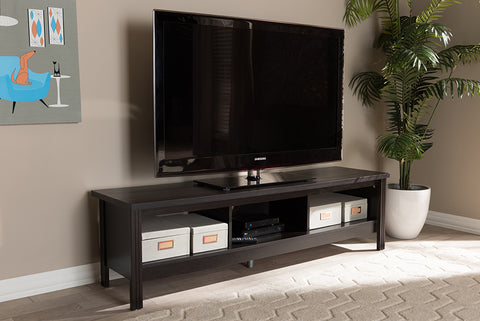 Baxton Studio MH8117-Wenge-TV Callie Modern and Contemporary Wenge Brown Finished TV Stand