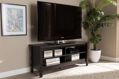 Baxton Studio MH8119-Wenge-TV Sloane Modern and Contemporary Wenge Brown Finished TV Stand
