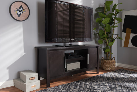 Baxton Studio MH8120-Wenge-TV Marley Modern and Contemporary Wenge Brown Finished TV Stand