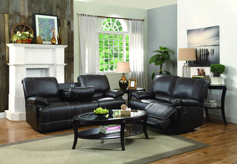 Homelegance 8403-3 Cassville Collection Color • Dark Brown Bi-Cast Vinyl - Peazz.com - 1