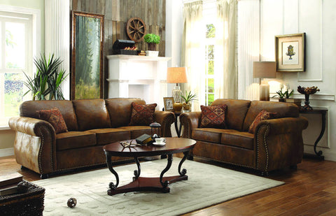Homelegance 8405BJ-2 Corvallis Collection Color • Brown Bomber Jacket Microfiber - Peazz.com - 1