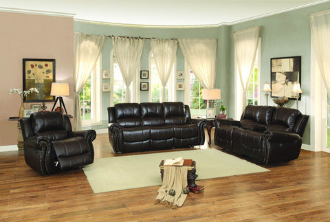 Homelegance 8489BRW-3 Annapolis Collection Color • Dark Brown Leather Gel Match - Peazz.com