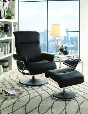 Homelegance 8550BLK-1 Caius Collection Color Black Bonded Leather Match - Peazz.com
