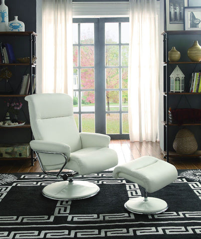 Homelegance 8550WHT-1 Caius Collection Color White Bonded Leather Match - Peazz.com - 1