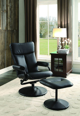 Homelegance 8555BLK-1 Alida Collection Color Black Bonded Leather Match - Peazz.com
