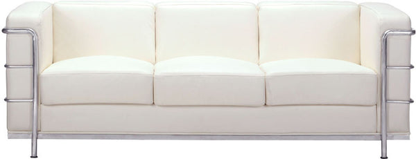 Zuo 900231 Fortress Sofa White 900231 Occasional