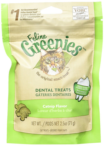 Feline Greenies Dental Treats - Catnip Flavor - 2.5 oz - Peazz Pet