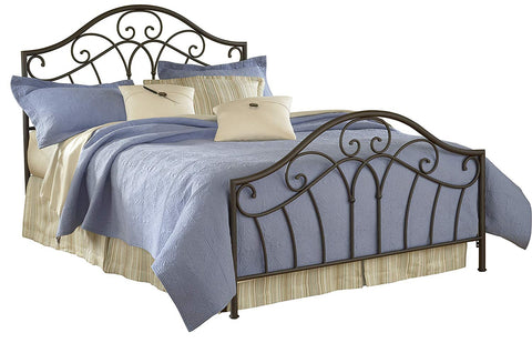 Hillsdale 1544BKR Josephine Duo Panel Bed Set King with 6 Leg Bed Frame Metallic Brown