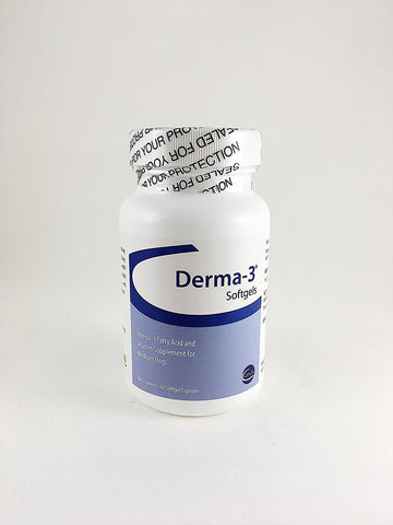 Derma-3 Softgels For Medium Breeds, 60 Capsules - Peazz Pet