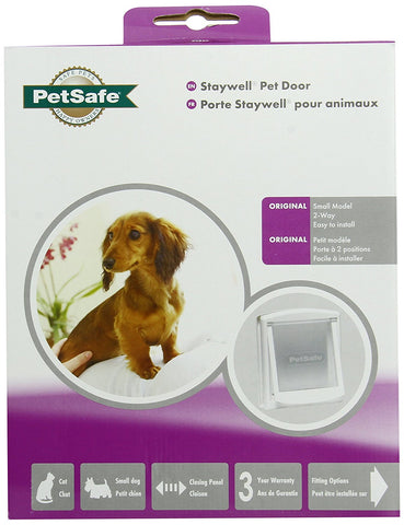 Small White Clear Hard Door Flap - Peazz.com - 1