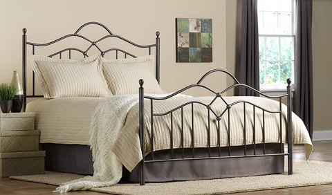 Hillsdale 1300BFR Oklahoma Bed Set with Rails in Bronze Full Size Hillsdale