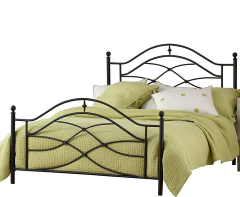 Hillsdale 1601BKR Furniture Cole Duo Panel Bed Set King In Black Twinkle 6 Leg Bed Frame