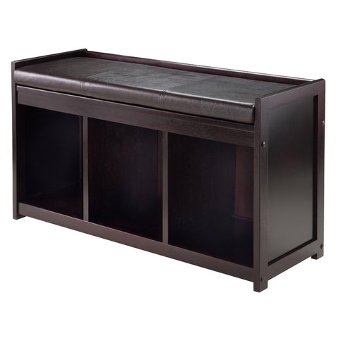 Winsome Wood 92349 Addison 2-Pc Storage Bench with Cushion Seat - Peazz.com - 1