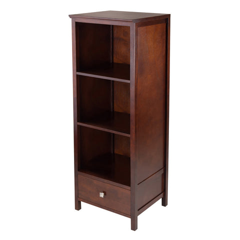 Winsome Wood 94417 Brooke Jelly Cupboard with 3 Shelves and Drawer - Peazz.com
